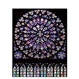 YRRBI-DIY Diamantmalerei Set, 5D Diamantmalerei, Kathedrale Notre Dame, Kreuzstich, Kristallpuzzle, Kunsthandwerk Heimdekoration, 40 x 40cm