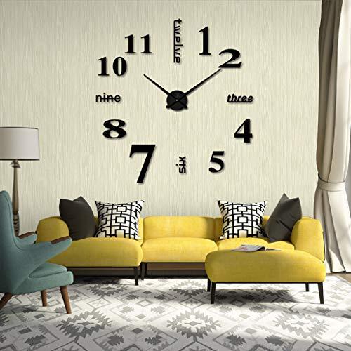 Reloj de pared de reloj de pared acr¨ªlico para crear UN reloj de pared grande sala de estar reloj silencioso DIY reloj de pared mini moderno reloj digital del hogar