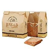 50 Pcs Kraft Paper Loaf Bread Packaging Bags,Toast Bakery Food Packaging Bag with Viewing Window,12.6