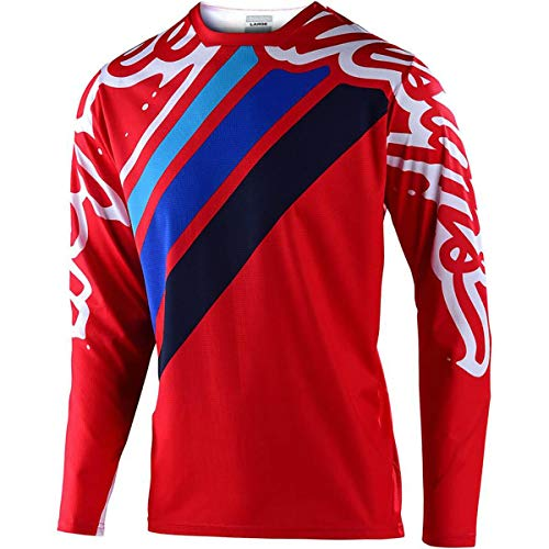 Troy Lee Designs Sprint Jersey Seca 2.0 - Rouge/Marine BMX VTT DH Downhill (S)