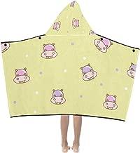 Children Hooded Blanket Ugly Animal Hippopotamus Kids Hooded Blanket Bath Towels Throw Wrap for Toddler Child Girl Boy Home Travel Sleep Blankets Kids