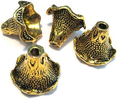 4Pcs Large Ranking TOP17 Antique Gold Bead Caps Cap Cone 5% OFF Tassel