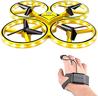 RC Drone for Kids, lesgos 360° Rotating Mini Drone with 32 LED Lights, Quadcopter Interactive Infrared Induction Flying T...