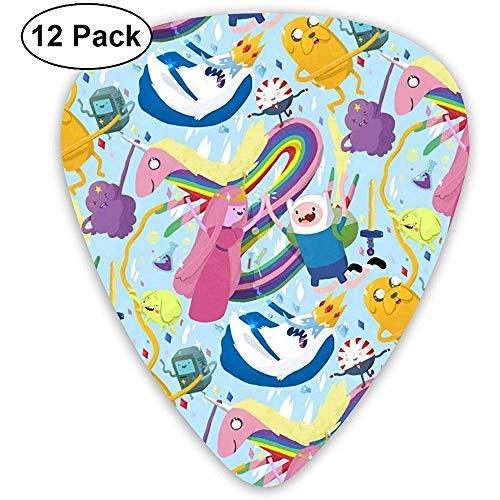 Neue Wallpaper Adventure Time Characters-Plektren (12er-Pack) für E-Gitarre, Akustikgitarre, Mandoline und Bass