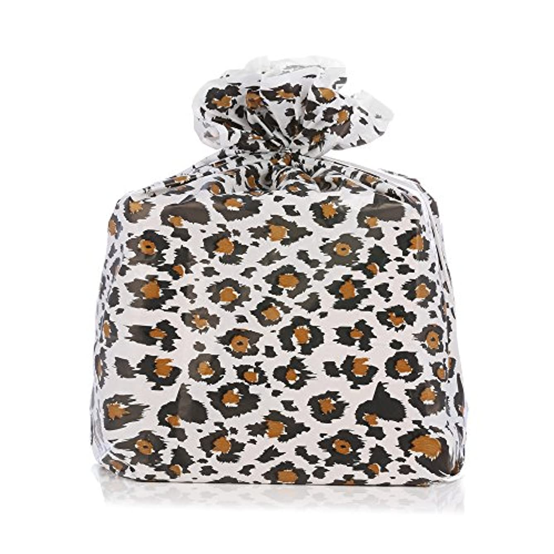 Reusable Black Leopard Plastic Gift Wrap Bags - Reuse as Pretty Trash Bags - 4 Count - 21