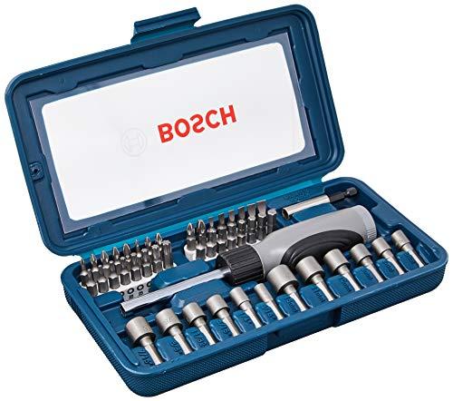 Kit de Pontas e Soquetes Bosch para parafusar com 46 unidades