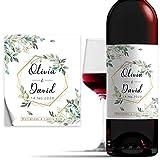 Etiquetas Personalizadas de 10x12cm para Botella de Vino de