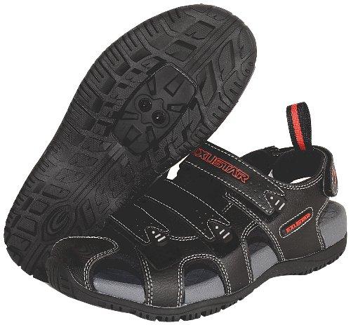 Exustar E-SS503 Bike Sandal, Black, 43/44 Euro or 9.5-10.5 US