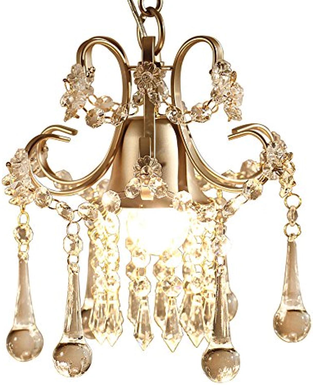 American Single Head Kristall Deckenleuchte Kreative Persnlichkeit Einfache Einstellbare Eisen Pendelleuchte Schlafzimmer Gang Balkon Einzelkopf Kristall Kronleuchter