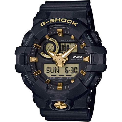 Casio G-SHOCK Reloj Analógico-Digital, 20 BAR, Negro/Amarillo, para Hombre, GA-710B-1A9ER