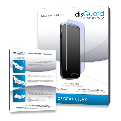 disGuard® Bildschirmschutzfolie [Crystal Clear] kompatibel mit Archos 50 Power [4 Stück] Kristallklar, Transparent, Unsichtbar, Extrem Kratzfest, Anti-Fingerabdruck - Panzerglas Folie, Schutzfolie