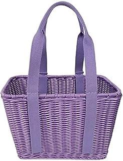 DHFDHD Plastique Weave de stockage Paniers Shelf tissage Storag Corbeille de fruits Boîte de rangement Panier pique-nique ...