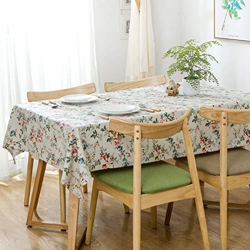 NTtie Transpirable, Aislamiento Térmico, Restaurante,Cocina, Cafetería, Mantel de Jardín Estampado de algodón Floral Verde