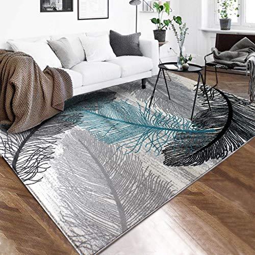Qud DT Nordic - Alfombra de salón o sofá o mesa baja, alfombra para dormitorio, alfombra de noche 11/27 (color D, tamaño: 133 x 190 cm)