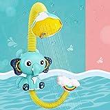 Fajiabao Baby Badewannenspielzeug Badespielzeug Elefant Badewanne Spielzeug Wasserspielzeug Kinderspielzeug mit Saugnapf für die Badewanne für ab 1 2 3 Jahren Kinder Mädchen Junge
