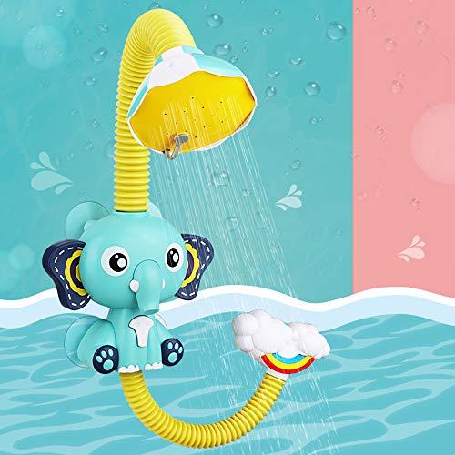 Fajiabao Juguetes Bañera Duchas de Baño Juguete Baño Bañeras para Bebes Elefante con 4 Potentes Ventosas Juegos Educativos para Niños Niño Niña 2 3 4 Años