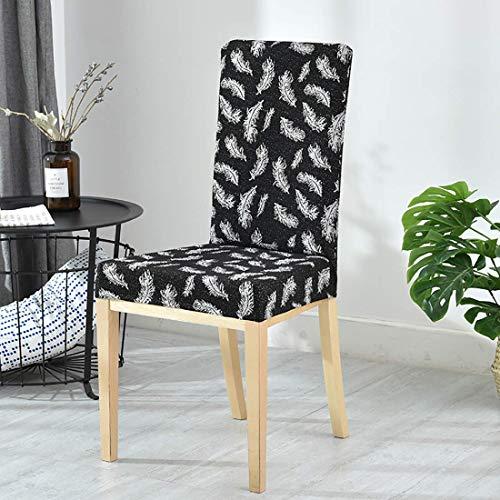 Cubiertas de silla de estiramiento, silla suave decorativa Fundas de asiento lavables removibles cubiertas de protectores elásticos Cubiertas para el hotel Restaurante Body Party Home Comedor (café os