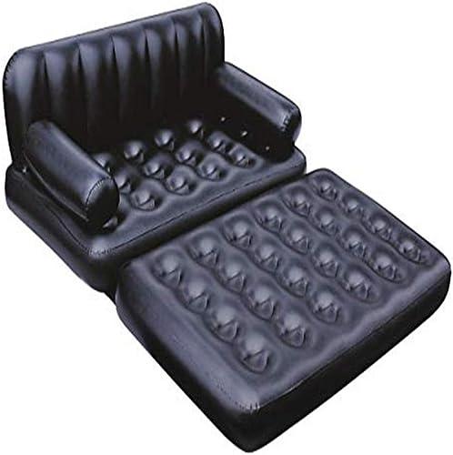 YSYDE Neue 5 in 1 Doppel SchwarzAufblasbare Air Sofa Liege Matratzecouch Luftmatratze Luftmatratze Luftmatratze Luftmatratze Luftbett Liege Luftmatratze Spüren Sie den Spaß der Kombination