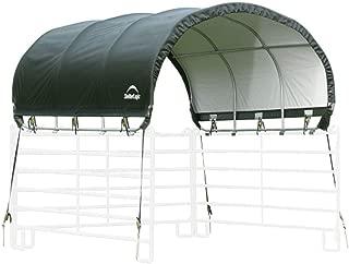 ShelterLogic 51530 10' x 10' Powder Coated Green Corral Shelter Livestock Shade