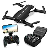 Drones with 1080P HD Camera for Beginners Adults,JJRC H71 Foldable Drone with Optical Flow Positioning, FPV Wifi Live Video Quadcopter for Adults,22mins Long Flight Time Rc Drone-Altitude Hold (Black)