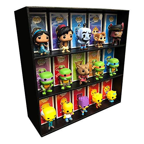 1 Display Geek Exclusive Stackable Toy Shelf for 4 in. Funko Pop Vinyl Collectible Figures, Black Corrugated Cardboard image