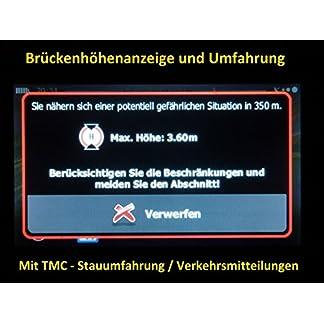 Navigationsgeraet-Fuer-LKWTRUCK-PKW-BUSWOHNMOBIL-und-CAMPERRadarwarner-Kostenlos-Map-Update-GANZ-EUROPA-KARTE47-laender-Gefahrgut-GRATIS-SONNENBLENDE-7-Zoll-INKL-TMCTMC-PRO