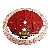 クリスマス 木パターン ツリー ツリースカート Zyurong クリスマス用品 下敷物 新しい年 パーティー装飾 正月飾り ピクニックマット オーナメント 豪華 インテリア 小物 直径120cm (C)
