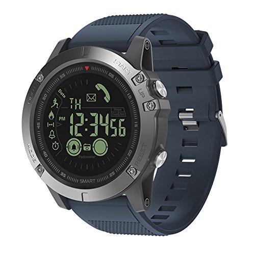 Anself Sports Smart Watch Orologio da Polso Intelligente Sportivo Multifunzione Pedometro/Cronometro/Sveglia/Telecomando fotocamera/Promemoria Supporta IOS7.0 & Android 4.4 e Superiore