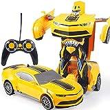 Kikioo Échelle 1:12 Cheevroolet Intelligence RC Télécommande Voix Gesture Détection Transformer Voiture Robot Jouet...