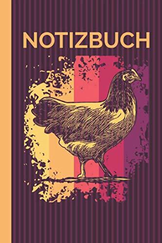 Notizbuch: Hühner-Motiv Vorwerkhühner Spruch I Kladde I Heft I 120 Seiten I Liniert I Hühnerbauer Geschenk