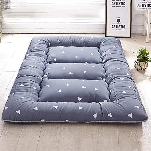 MSM Japanisch Bodenmatratze Shikibuton,Gedruckt Boden Sleeping Pad,100% Baumwolle Futon Roll Up Tragbar Camping Matratze Dreieck 150x200cm/59x79inch