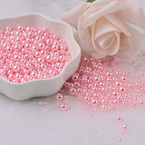 2/3/4/5mm sin agujeros perlas redondas perlas de imitación acrílico perlas DIY para hacer joyeríapara manualidades DIY decoración 10g-China, mezcla rosa claro, mezcla 3-8mm 200pcs