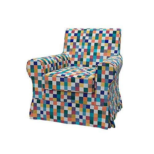 Soferia - IKEA EKTORP JENNYLUND Funda para sillón, Mozaik White