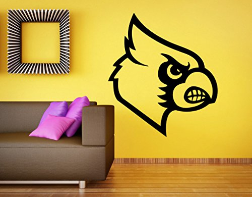 Louisville Cardinals Logo Wall Decal Vinyl Sticker NCAA College Football Home Interior Removable Decor (28'high X 22'Wide)