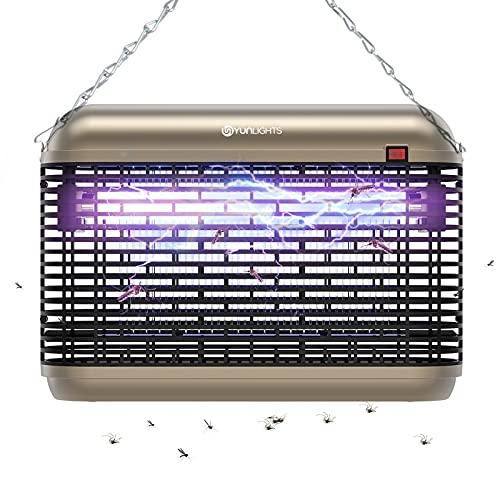 YUNLIGHTS Elektrisch Fliegenfalle 20W Insektenvernichter mit UV-Licht Insektenfalle Mückenfalle Elektrische Insektenkiller Moskito Killer Lampe Mückenschutz Fliegenfänger für Schlafzimmer Gärten KÜCHE