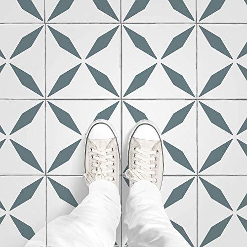 STENCILIT Tantra Tile Stencil for Painting Floors - Repositionable Tile Stencil - Large Floor Stencils for Painting Concrete - Tile Stencils for Painting Floors (12' x 12')