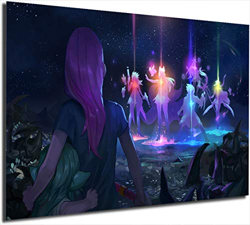 Star Guardians Recall Video Game Artwork Painting 12' x 16' League Legends Póster Impresión Abstracto Pintura Arte Arte Impresión Oficina Decoración Hogar Artwork Artwork