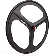 TBVECHI 700c Tri-Spoke Single Speed Fixie Bicycle Wheel Fixed Gear Bike Black Rear Wheel (Set of Front)