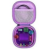 co2CREA Hard Travel Case for Leapfrog Rockit Twist Handheld Learning Game (Black Case + Inside Purple)