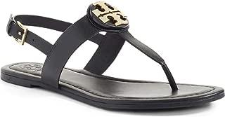 Bryce Flat Thong Sandal Veg Leather (9.5 US Black)