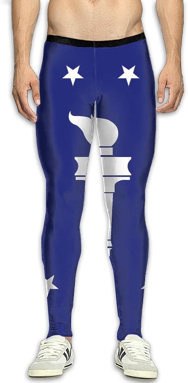 Nollm American Flag Compression Men's Gym Training Pants 3D Print Fitness