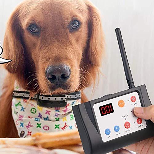 NXL Valla Inalámbrica Vertical para Perros Sistema De Contención De Mascotas Vibración/Descarga...