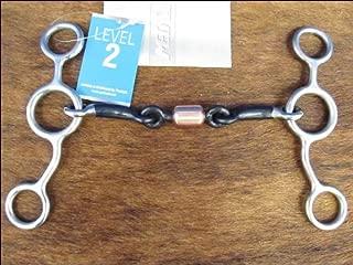 Metalab Stainless Steel Junior Cow Horse Roller Dog Bone Gag Bit - Stainless Steel - 5 3/8
