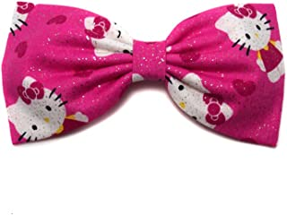 Hello Kitty Collection-hair Bows for Girls, Teens, Gifts for Her. (Glitter Kitty in Love, Alligator Clip)
