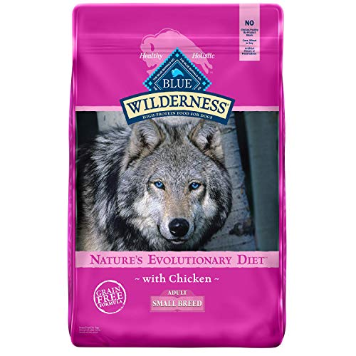 Blue Buffalo Wilderness High Protein Grain Free Natural Adult Small Breed Dry Dog Food, Chicken 11-lb