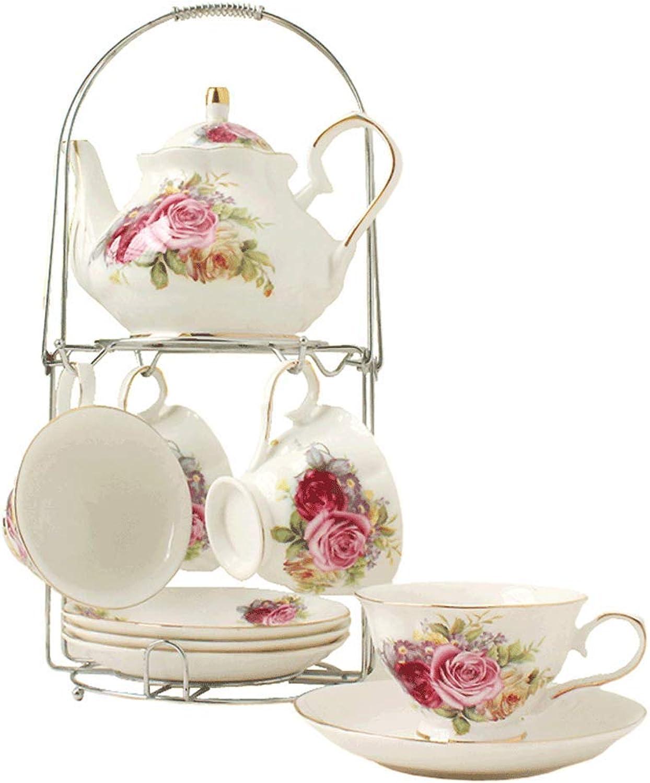 Tasse à café en céramique européenne ensemble anglais après-midi thé bureau à domicile salon parcravate fête tasse à café tasse à thé 9 pièce ensemble