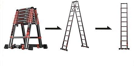 GJSN Escaleras, Escalera Telescópica de Múltiples Funciones de Ingeniería Escalera con Ruedas de Elevación Escaleras Rectas, Engrosamiento Plegable Espiga de Escalera,3,9 Millones,3,9 Millones: Amazon.es: Bricolaje y herramientas