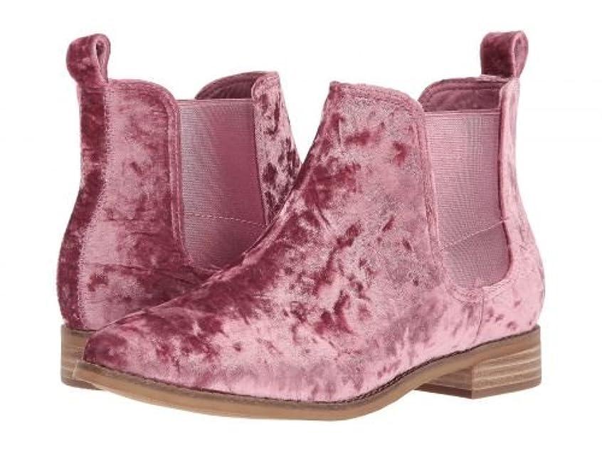 デイジー認める宿るTOMS(トムス) レディース 女性用 シューズ 靴 ブーツ チェルシーブーツ アンクル Ella - Faded Rose Velvet 8 B - Medium [並行輸入品]