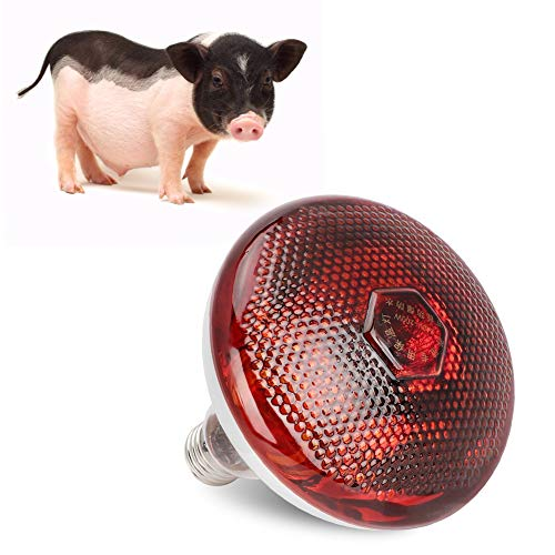 Cafopgrill H¨¹hnerstall Heizung, W?rmelampe Rot Hartglas Gl¨¹hbirne f¨¹r H¨¹hner Schwein Bauernhof Haustiere Physiotherapie Badezimmer im Winter E27 Basis(200W)