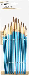 Juuly - Juego de 12 Pinceles de Pintura para Acuarela, Aceite, acrílico, Manualidades, Pintura de uñas y Cara